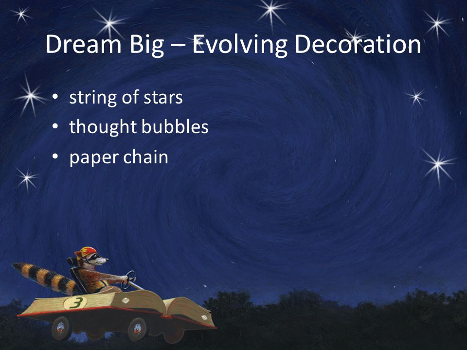 Dream Big – Evolving Decoration string of stars thought bubbles paper chain