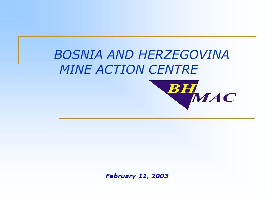 February 11, 2003 BOSNIA AND HERZEGOVINA MINE ACTION CENTRE