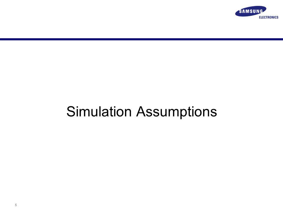 5 Simulation Assumptions