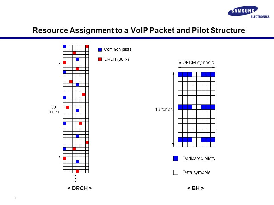 7 Resource Assignment to a VoIP Packet and Pilot Structure