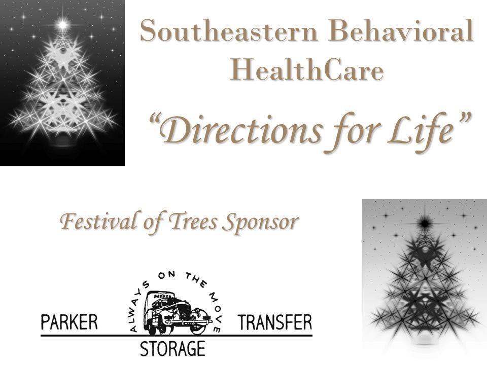 Festival of Trees Sponsor Southeastern Behavioral HealthCare Directions for Life