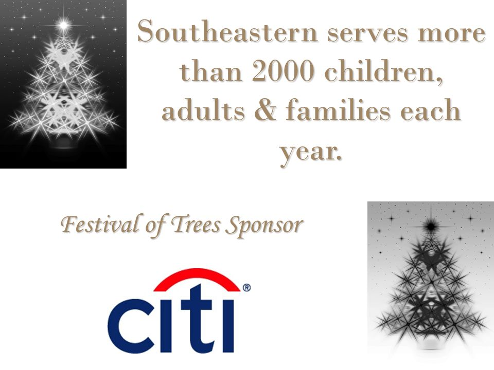 Southeastern serves more than 2000 children, adults & families each year.