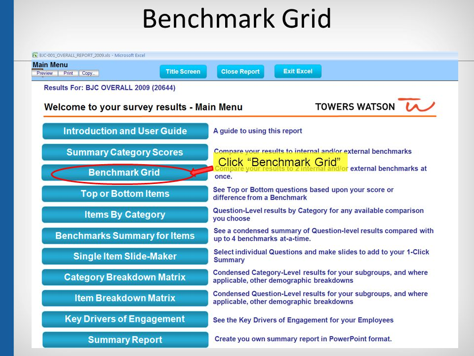 "Benchmark Grid 25 Click ""Benchmark Grid"""