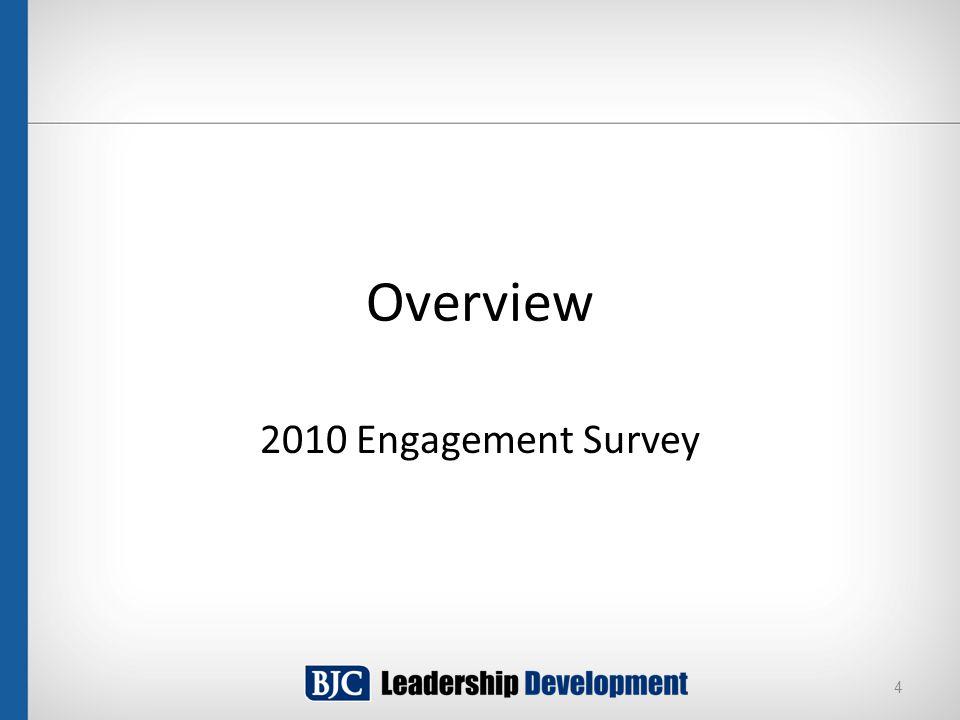 Overview 2010 Engagement Survey 4