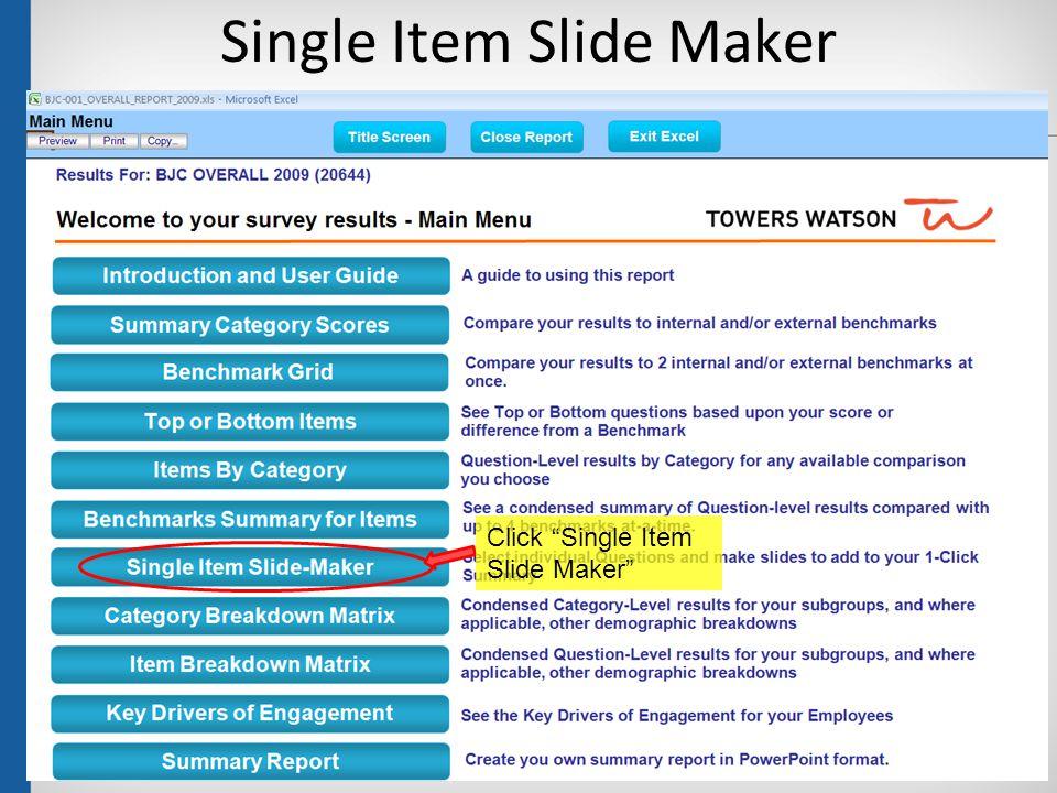 "Single Item Slide Maker 43 Click ""Single Item Slide Maker"""
