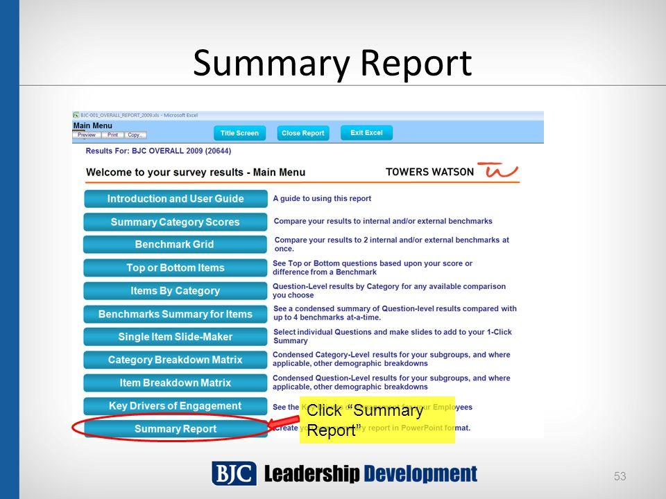 "Summary Report 53 Click ""Summary Report"""