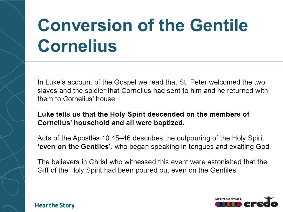 In Luke's account of the Gospel we read that St.
