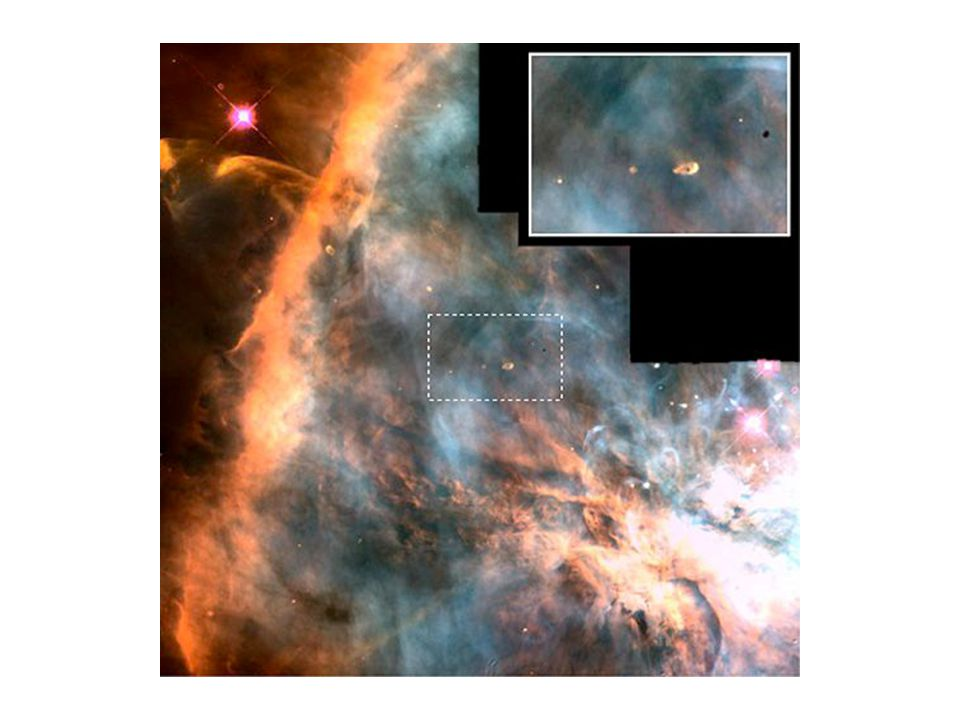 The nebula (a cloud of gas and dust) floated in space, until a shock wave disturbed it.