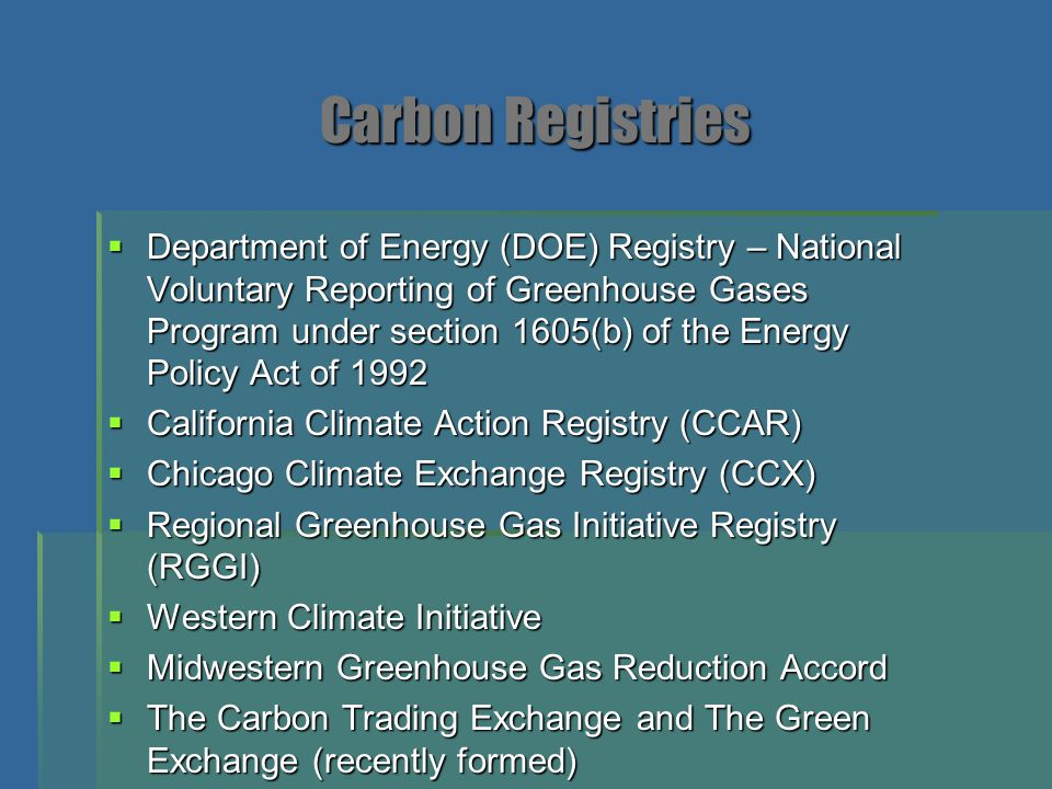 US Commitments to Carbon Reductions  Two States: New Mexico and Illinois  284 U.S.