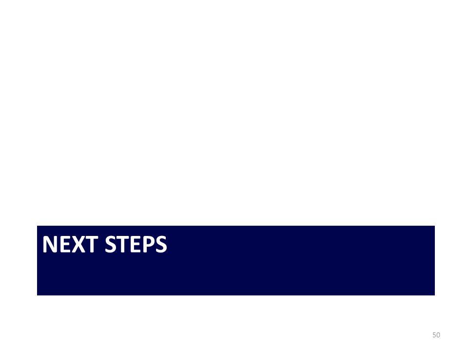 NEXT STEPS 50