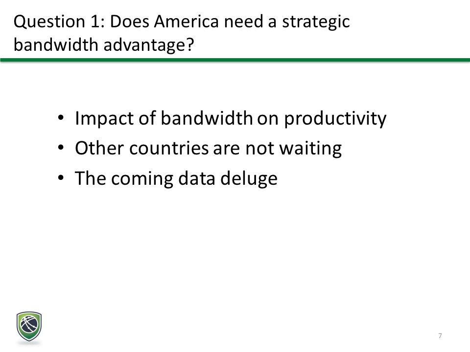 Question 1: Does America need a strategic bandwidth advantage.