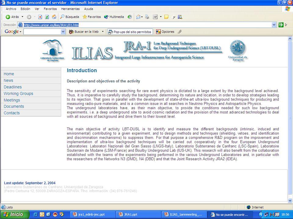 ILIAS 4 EB meeting. Paris. January 2005 JRA1 web page http://www.unizar.es/ilias 15