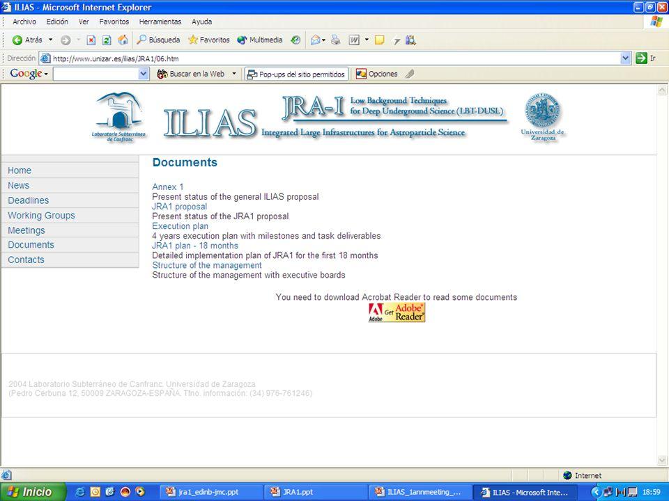 ILIAS 4 EB meeting. Paris. January 2005 JRA1 web page http://www.unizar.es/ilias 16