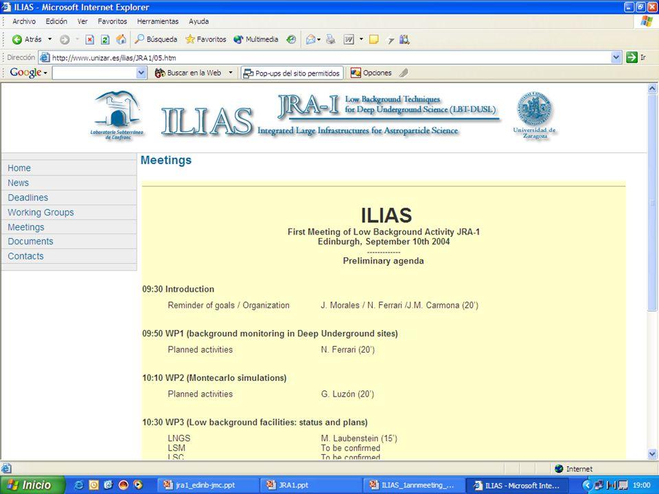 ILIAS 4 EB meeting. Paris. January 2005 JRA1 web page http://www.unizar.es/ilias 17