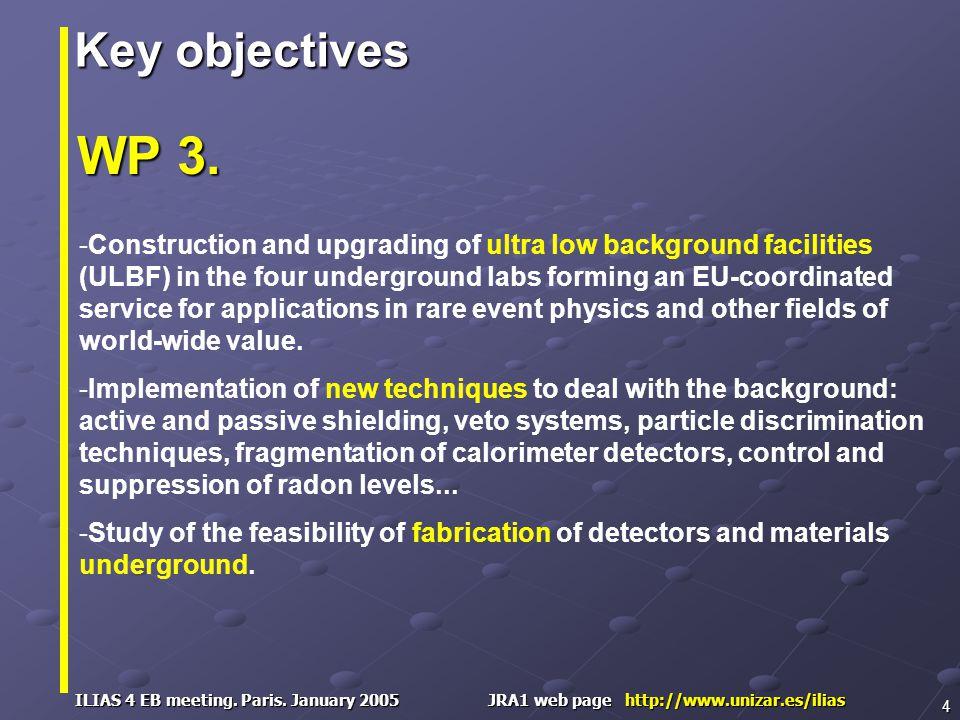 ILIAS 4 EB meeting. Paris. January 2005 JRA1 web page http://www.unizar.es/ilias 4 WP 3.