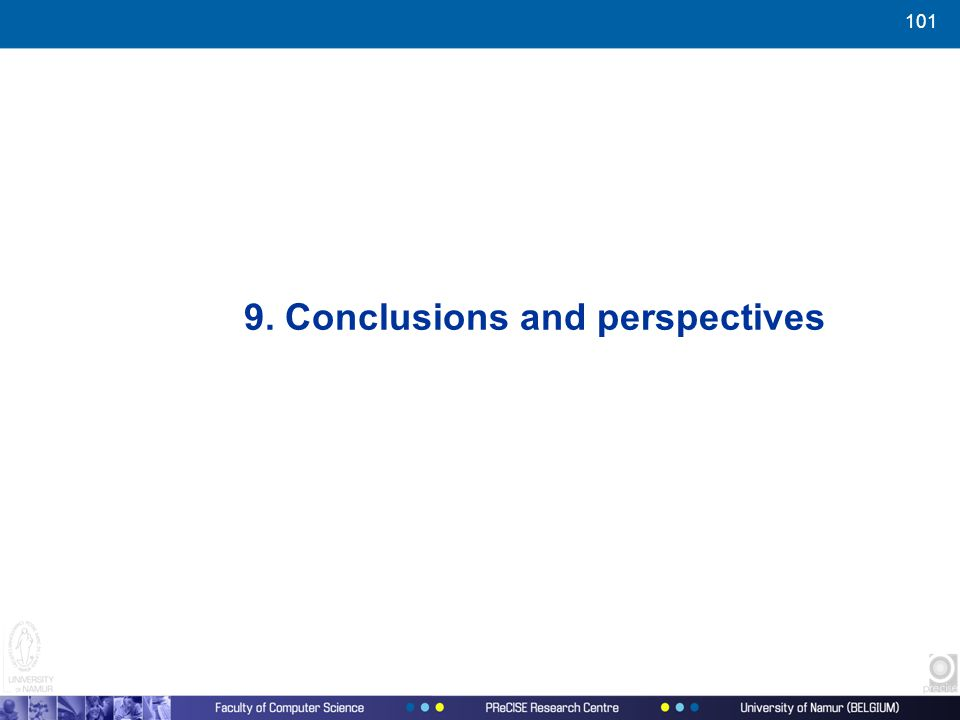 101 9. Conclusions and perspectives