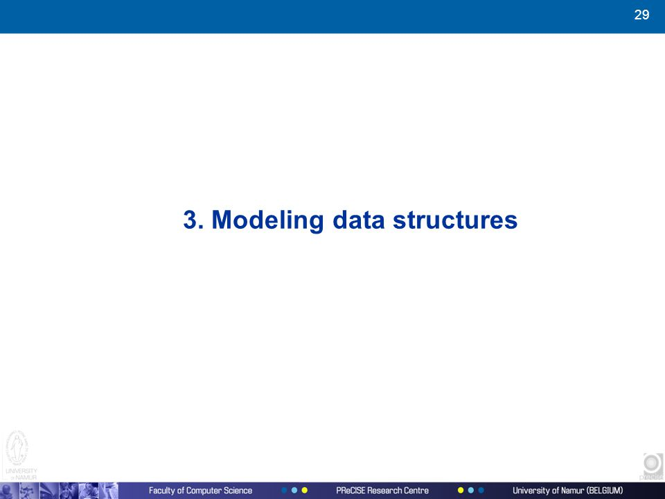 29 3. Modeling data structures