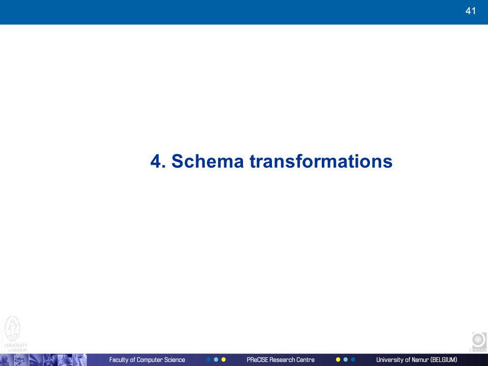 41 4. Schema transformations