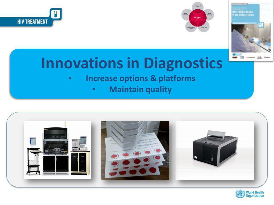 Innovations in Diagnostics Increase options & platforms Maintain quality Innovations in Diagnostics Increase options & platforms Maintain quality
