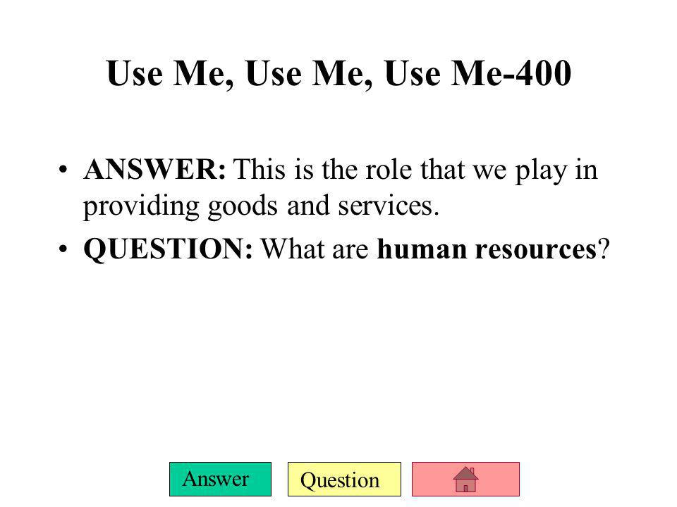 Question Answer FINAL JEOPARDY ANSWER: economics: a social science concerned with the way society chooses to employ its limited resources, which have alternative uses, to produce goods and services for present and future consumption  the study of scarcity and choice regarding this scarcity.