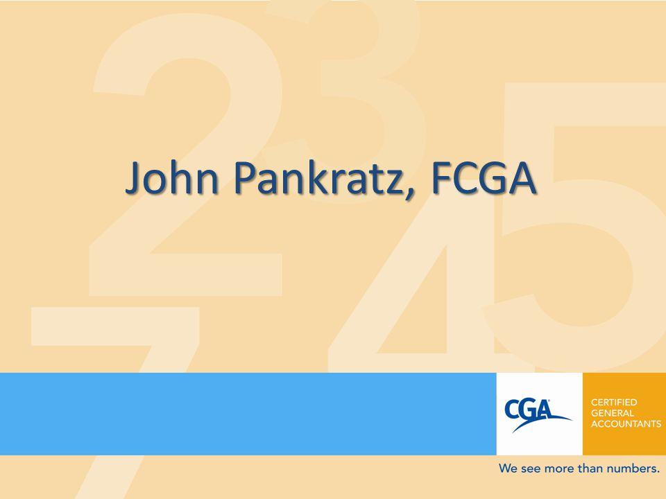 John Pankratz, FCGA