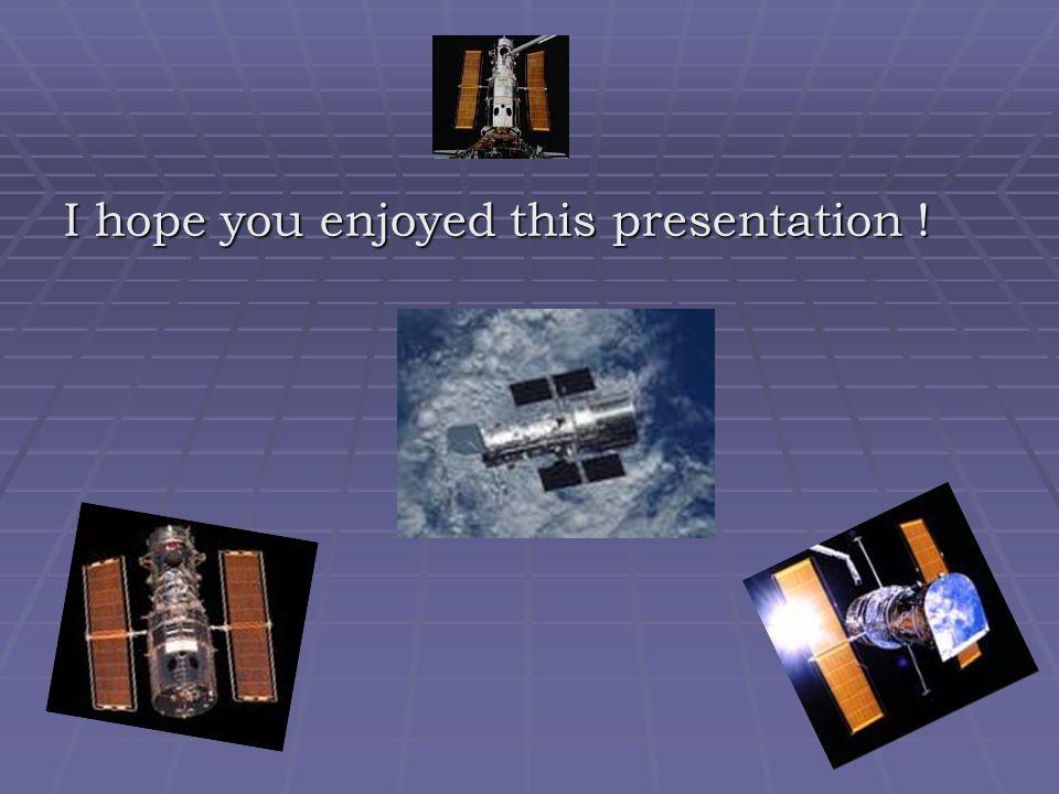 I hope you enjoyed this presentation !