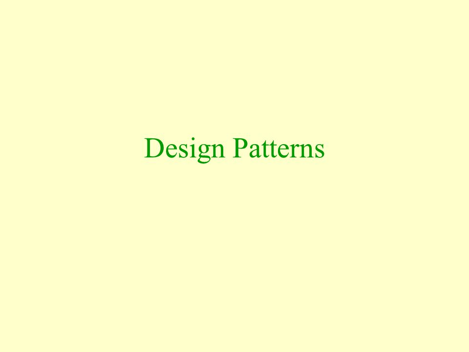 Patterns and Abstraction The pattern we really mean is The elements of some sequence taken in their natural order What about the fact that the integers are infinite and the days of the week are finite?
