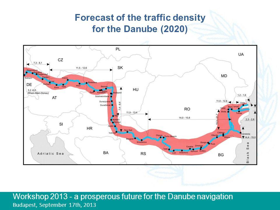 Workshop 2013 - a prosperous future for the Danube navigation Budapest, September 17th, 2013 Forecast of the traffic density for the Danube (2020)