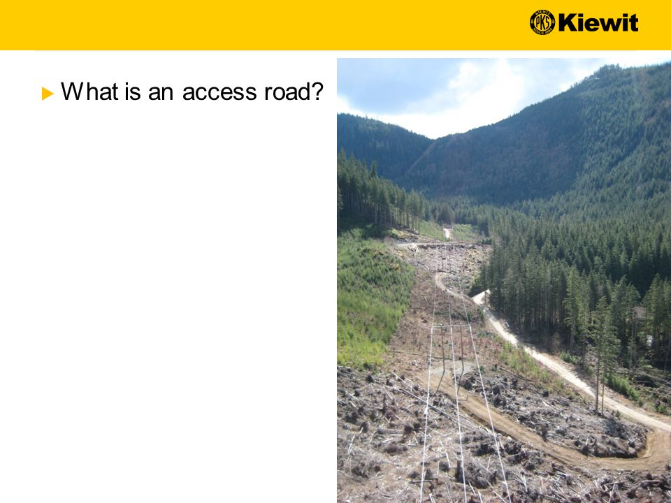  What is an access road