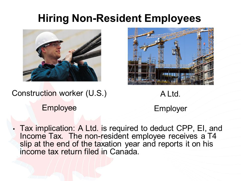 Hiring Non-Resident Employees Tax implication: A Ltd.