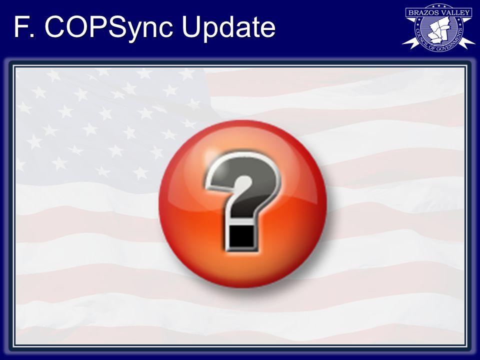F. COPSync Update
