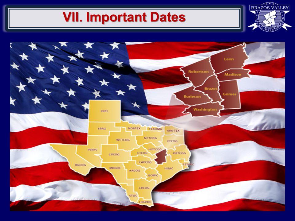 VII. Important Dates