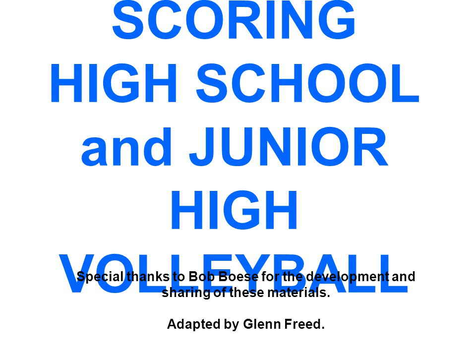 SCORING CLINIC PREFACE This is a PowerPoint to help high school & junior high scorers comply with NFHS scoring procedures.
