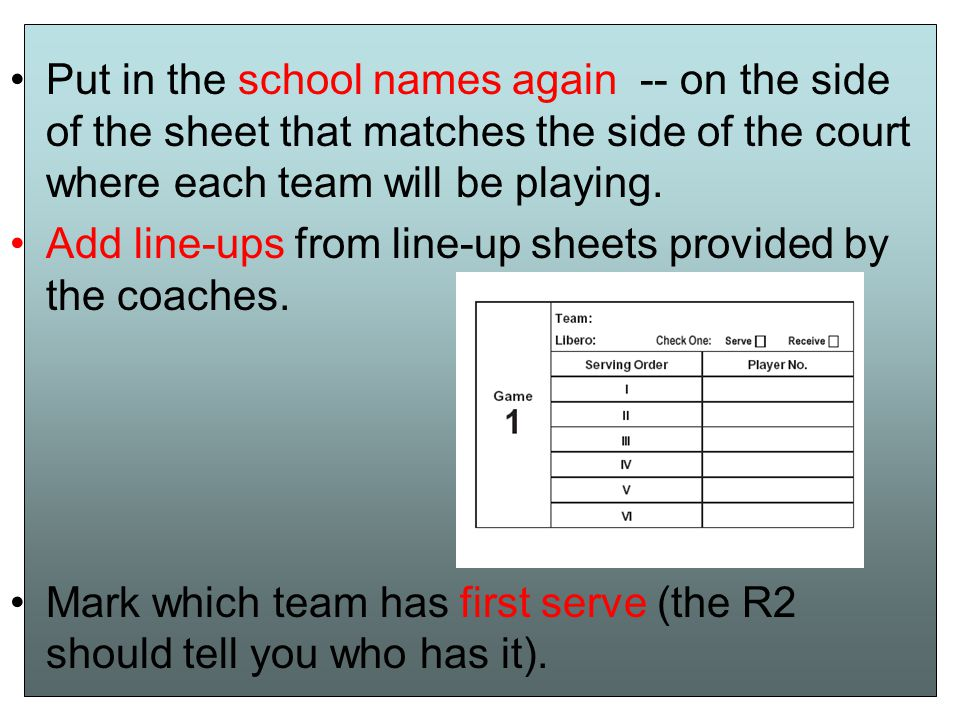 REMEMBER You are the OFFICIAL scorer You are part of the officiating team with the R1 and R2 Your score is the correct score.