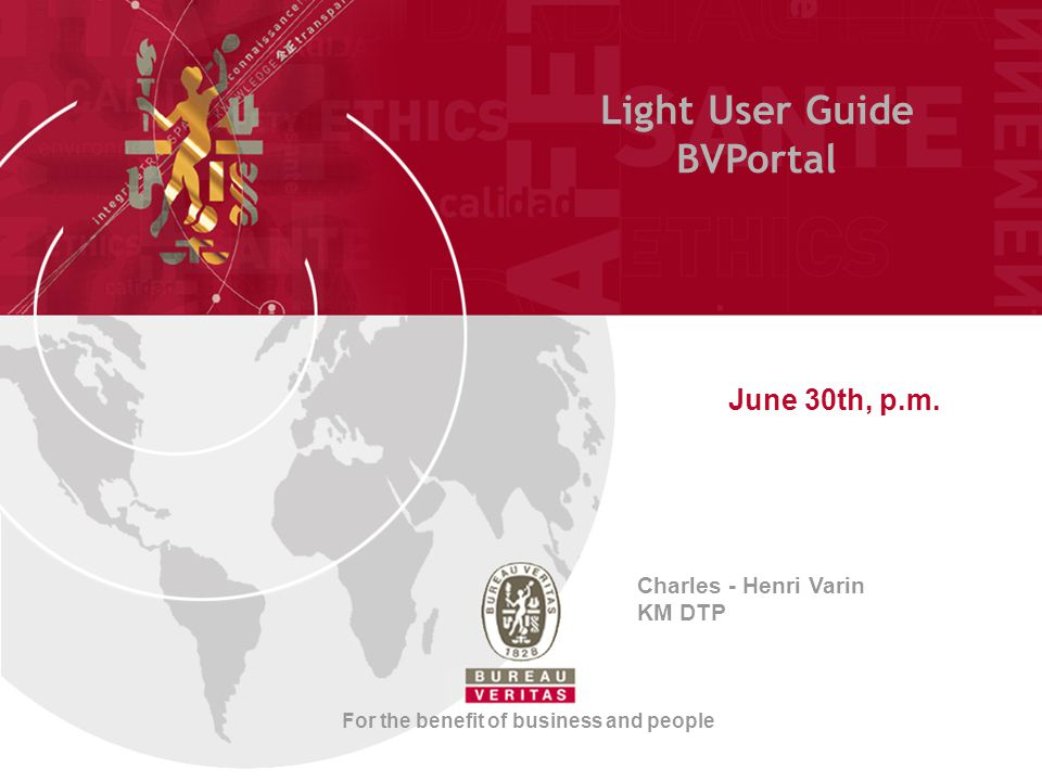 Light User Guide BVPortal June 30th, p.m.