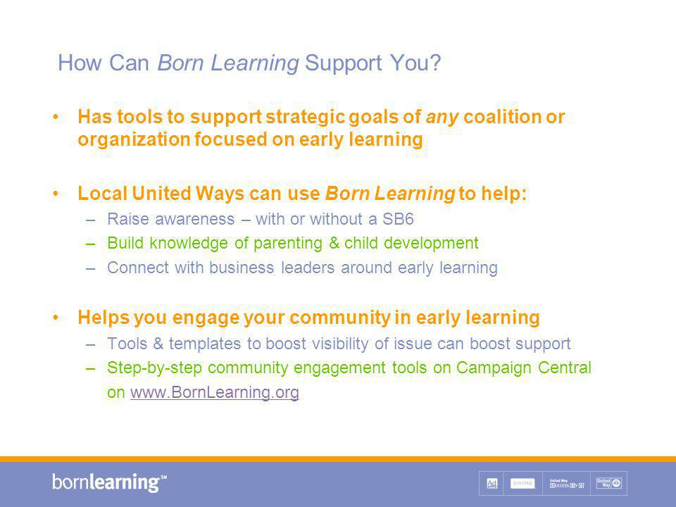 How Can Born Learning Support You.
