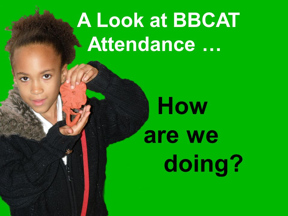 A Look at BBCAT Attendance … How are we doing