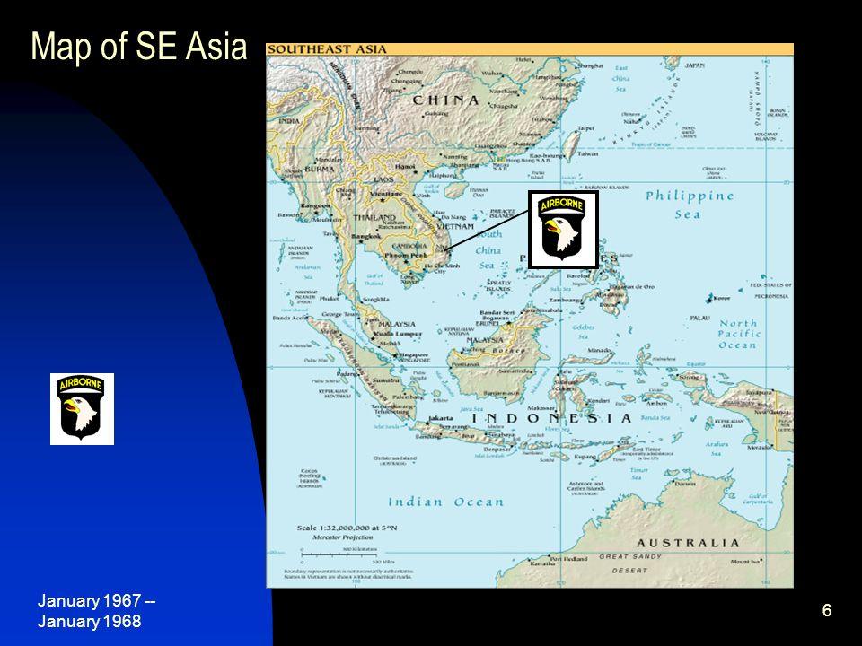 January 1967 -- January 1968 7 Map of Indochina Phan Rang