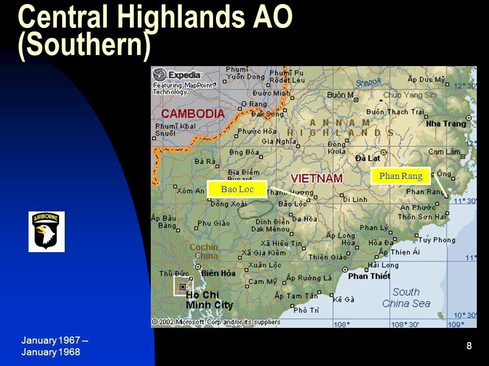 January 1967 -- January 1968 39 B/2-327 th change of command May 23, 1967 near Duc Pho.