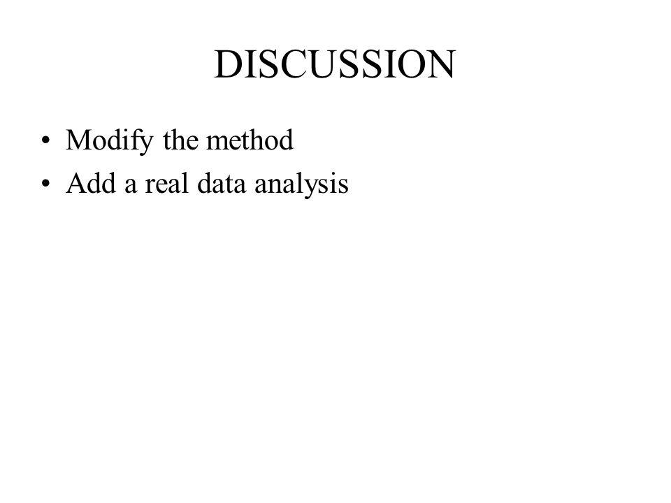 Modify the method Add a real data analysis