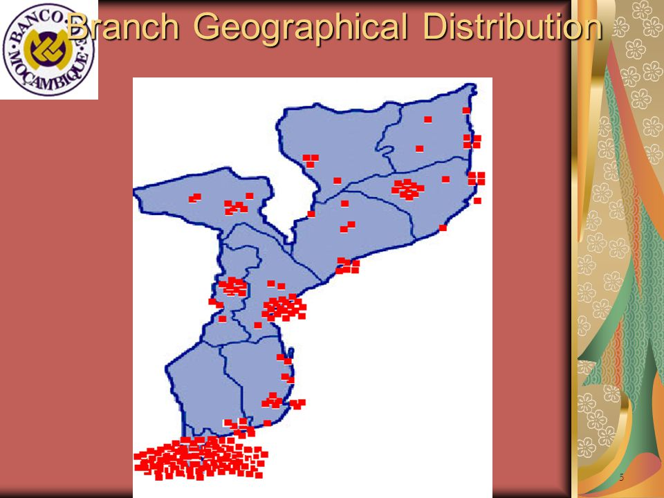 The Financial Services Environment (2) As shown in the map, branches are highly concentrated in the capital Maputo.