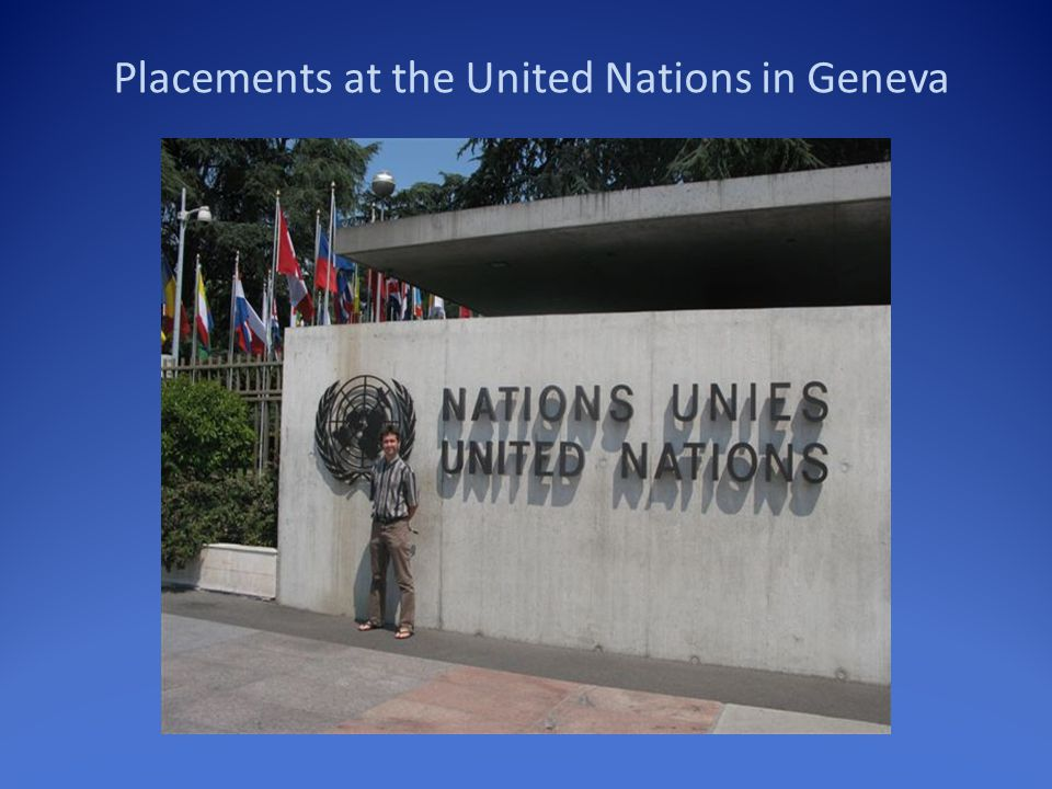 Placements at the United Nations in Geneva