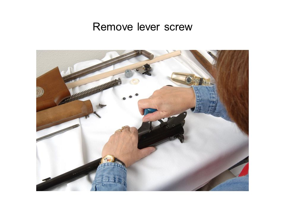 Remove lever screw