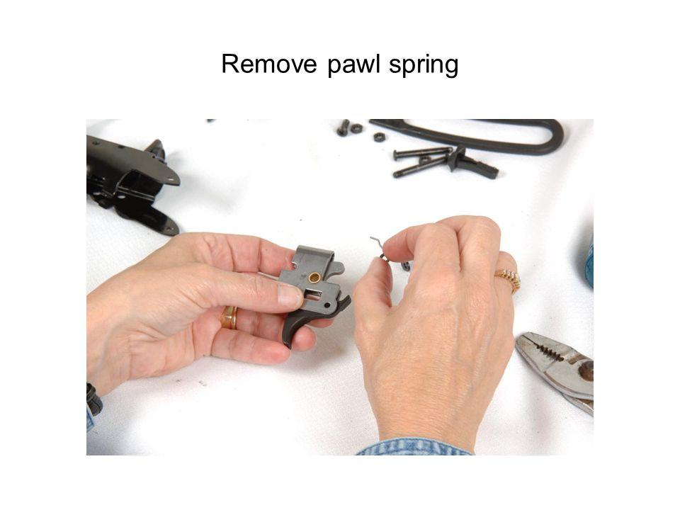 Remove pawl spring