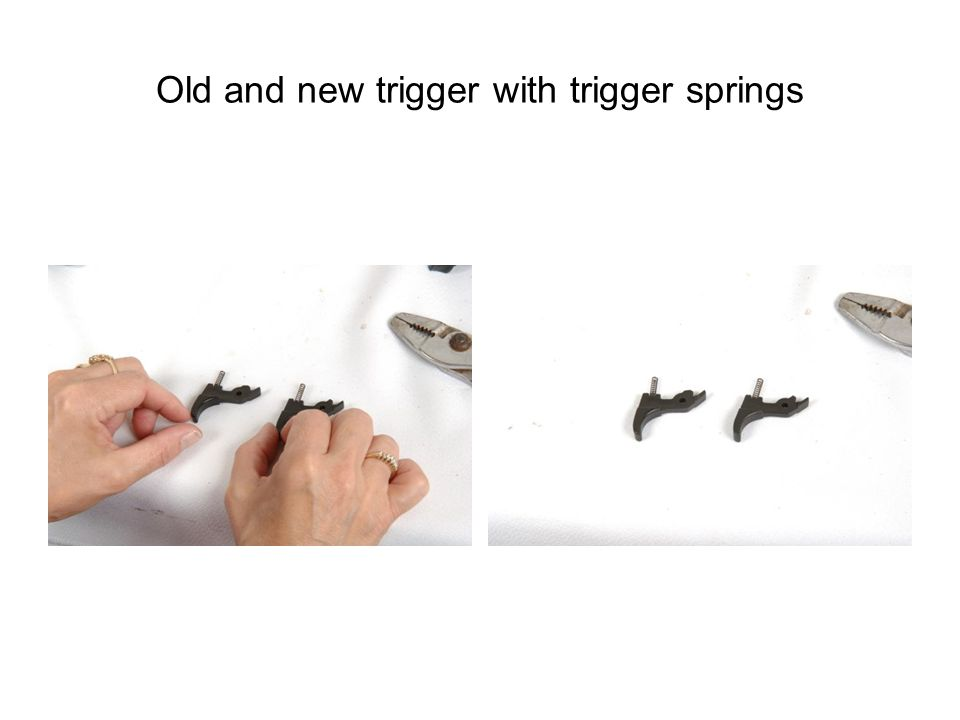 Old and new trigger with trigger springs