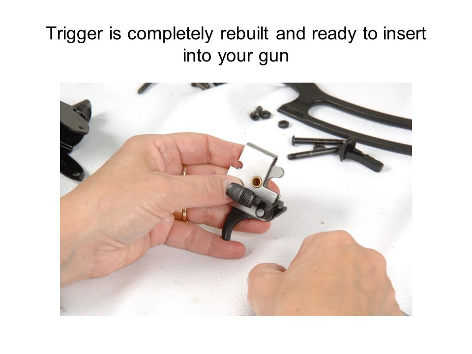 Trigger is completely rebuilt and ready to insert into your gun