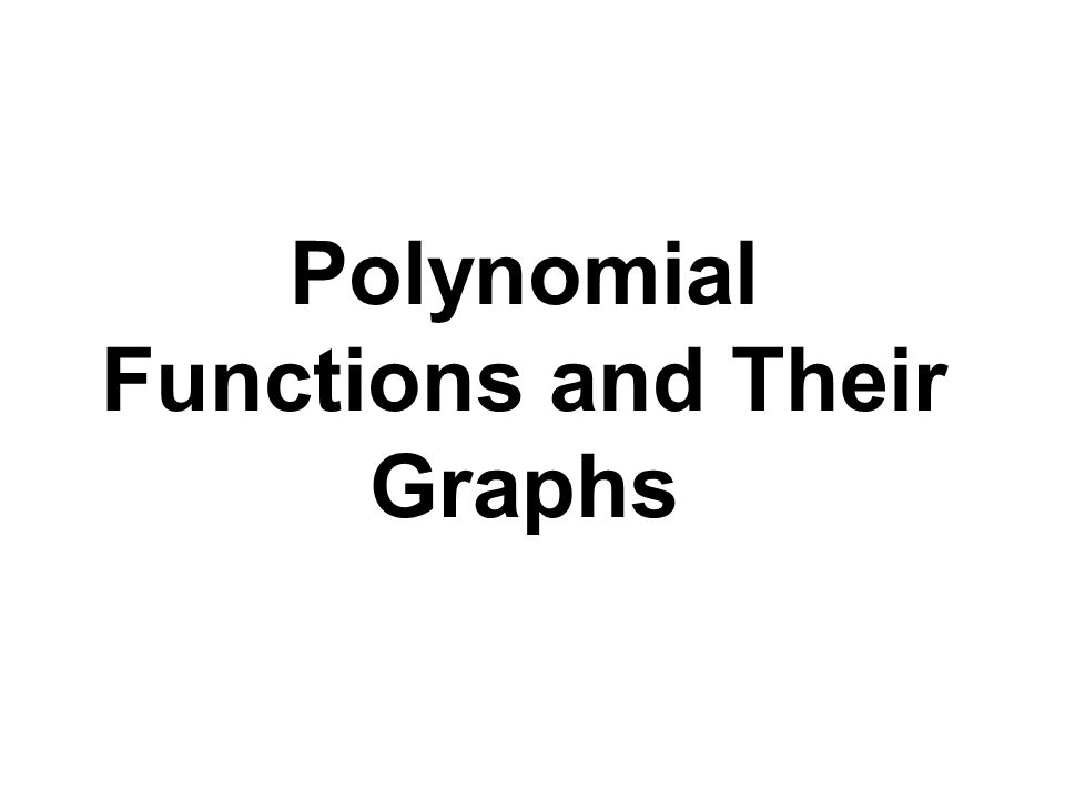 Definition of a Polynomial Function Let n be a nonnegative integer and let a n, a n- 1,…, a 2, a 1, a 0, be real numbers with a n  0.