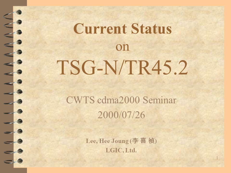 32 Other Standards in TR45.2 4 PN-4465 (J-STD-025-A) –Electronic Surveillance –Under Ballot Resolution 4 PN-4528 (ANSI-124-C) –Data Message Handler (e.g.