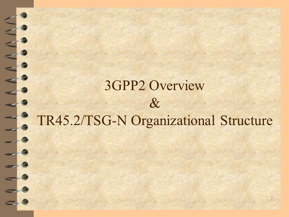 4 H 3GPP2 Focus = ANSI41 H 3GPP1 Focus = GSM H Joint 3G Focus = ITU Why is 3GPP2 ?