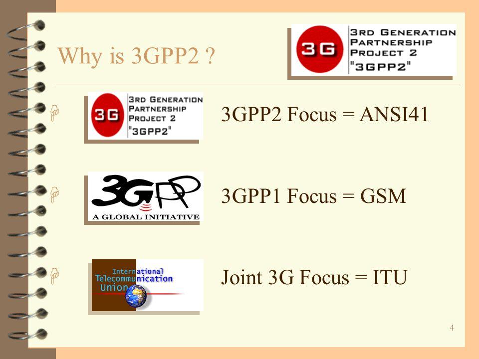 5 H CWTS H TTC + H ARIB + H TTA + H TIA + Who is 3GPP2 ?